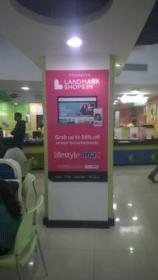 EGL Domlur Food Court Pillar Signage Advertising, Domlur - Bangalore