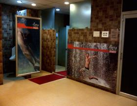 Mirror Branding In Wash Room, Gold's Gym - Malleshwaram, Bangalore, Malleshwaram - Bangalore